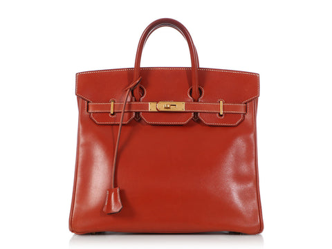 Hermès Brique Box Leather Birkin HAC 32