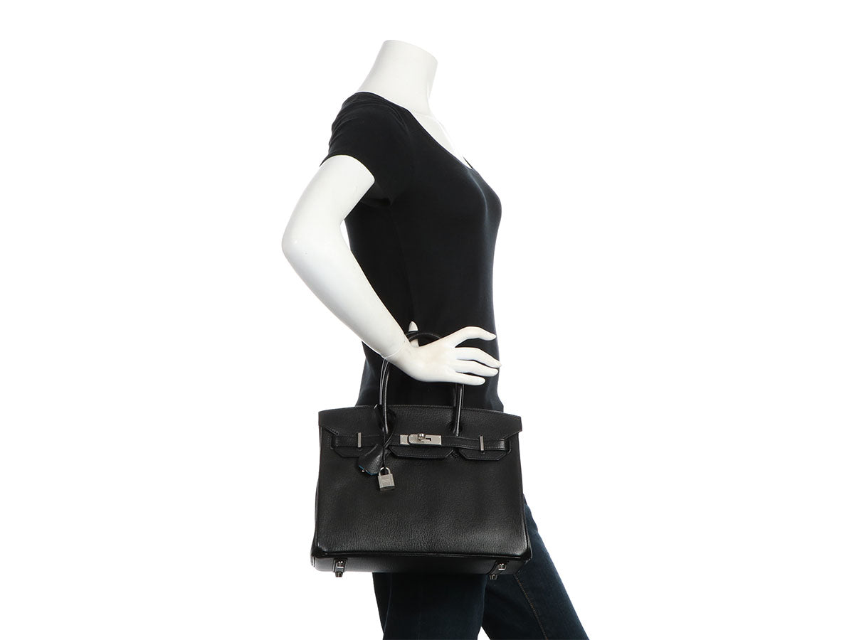 Herm s Special Order Black Ch vre and Turquoise Birkin 30