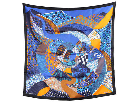 Hermès A Travers Champs Silk Scarf 90cm