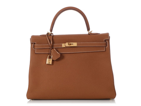 Hermès Gold Togo Kelly 35