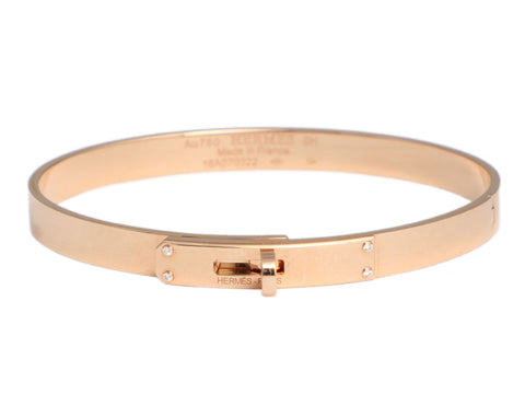 Hermès 18K Rose Gold Diamond Kelly Bracelet