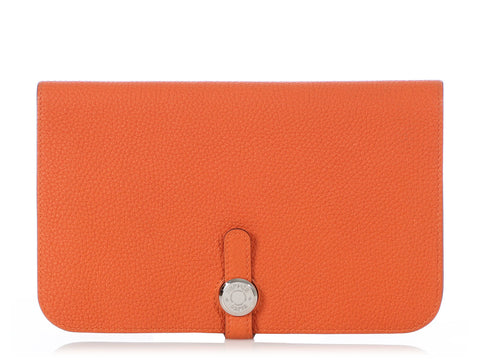 Hermès Orange Togo Dogon Duo Wallet