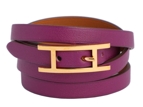 Hermès Small Anemone Swift Hapi 4 Bracelet