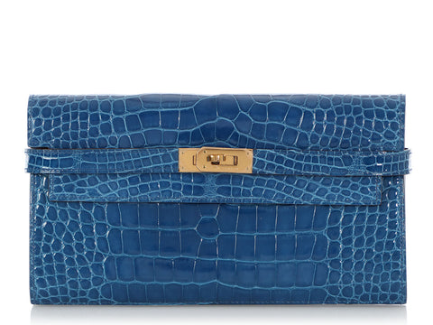 Hermès Mikonos Shiny Alligator Kelly Wallet