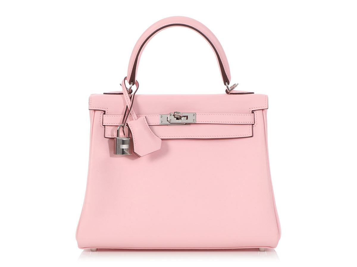 Hermès Rose Sakura Swift Kelly 25