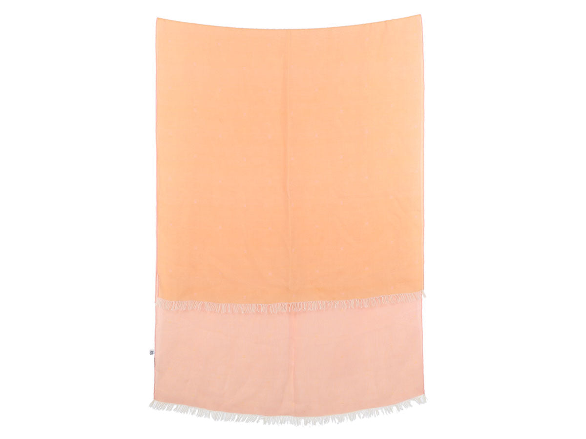 Hermès Orange Ombre Mousseline Stole