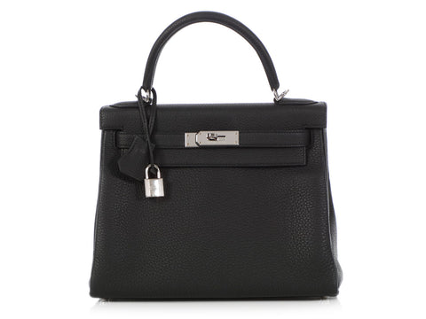 Hermès Black Togo Kelly 28