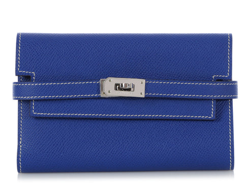Hermès Electric Blue Epsom Kelly Wallet