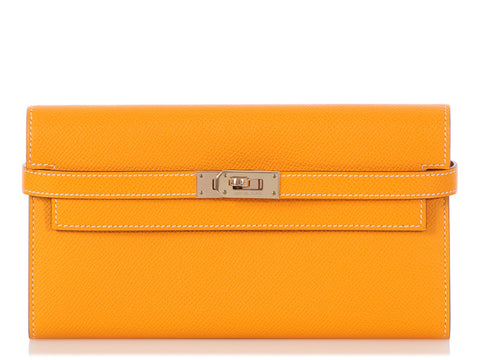 Hermès Long Jaune d'Or Epsom Kelly Wallet