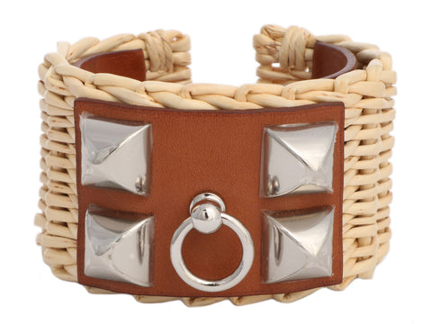 Hermès Picnic and Barenia Collier de Chien CDC Bracelet