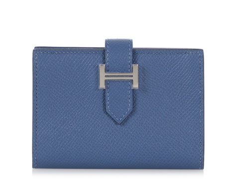 Hermès Blue Brighton Epsom Béarn Card Holder