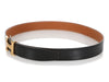 Hermès Noir and Gold Reversible Belt Kit 32mm