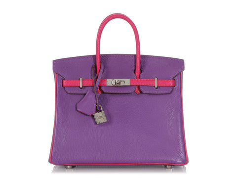 Hermès Special Order Parme Chèvre Mysore and Rose Tyrien Birkin 25
