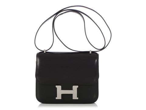 Hermès Black Swift Constance 18