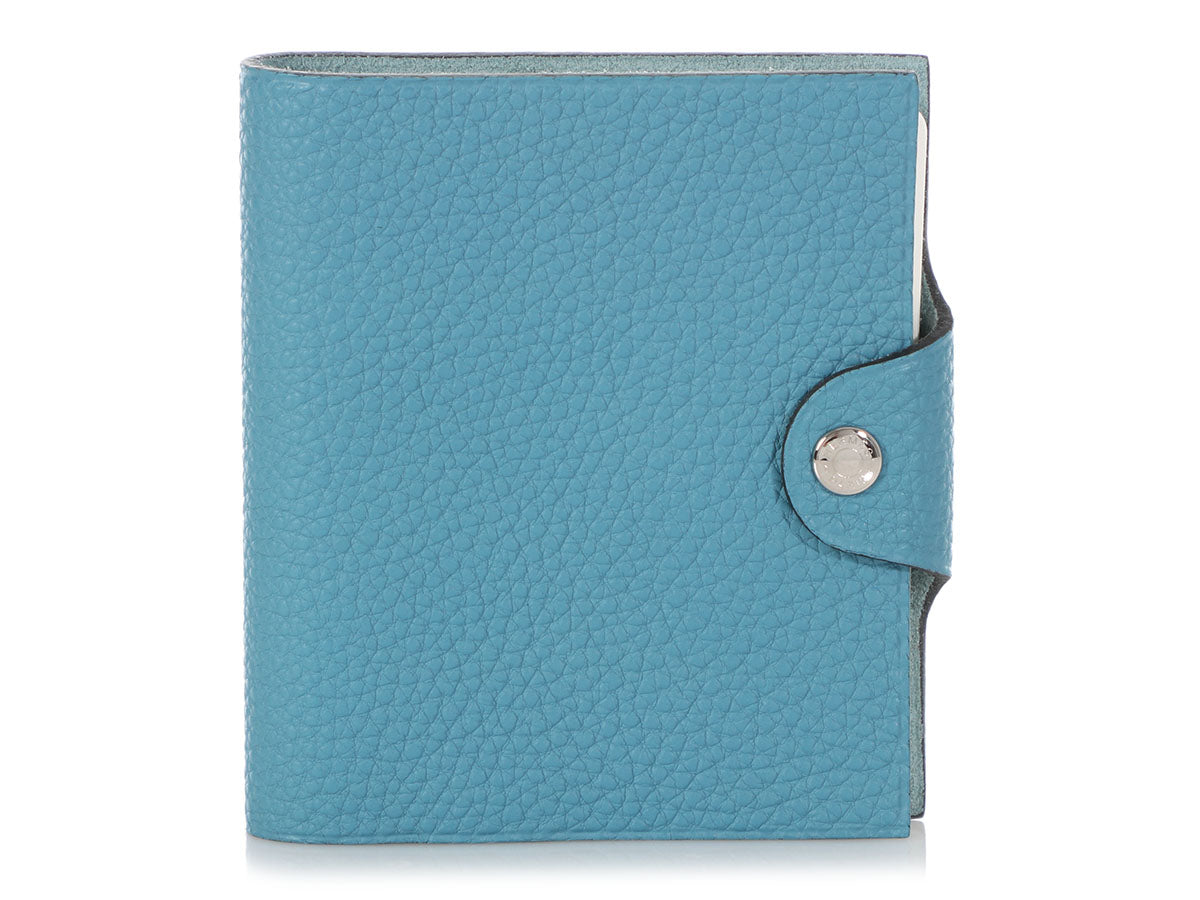 Hermès Mini Blue Jean Togo Ulysses Notebook