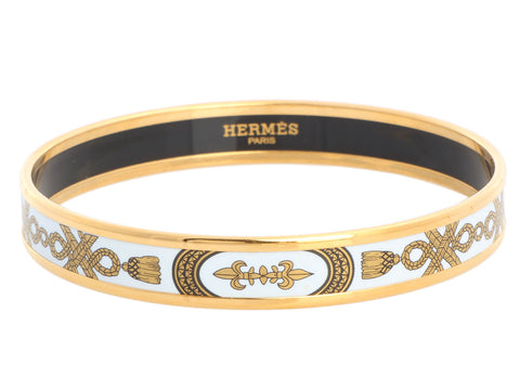 Hermès Narrow Grand Apparat Enamel Bangle
