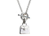 Hermès Sterling Silver Kelly Bag Cadena Pendant Necklace