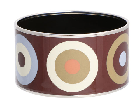 Hermès Extra Wide Big Dots Enamel Bangle