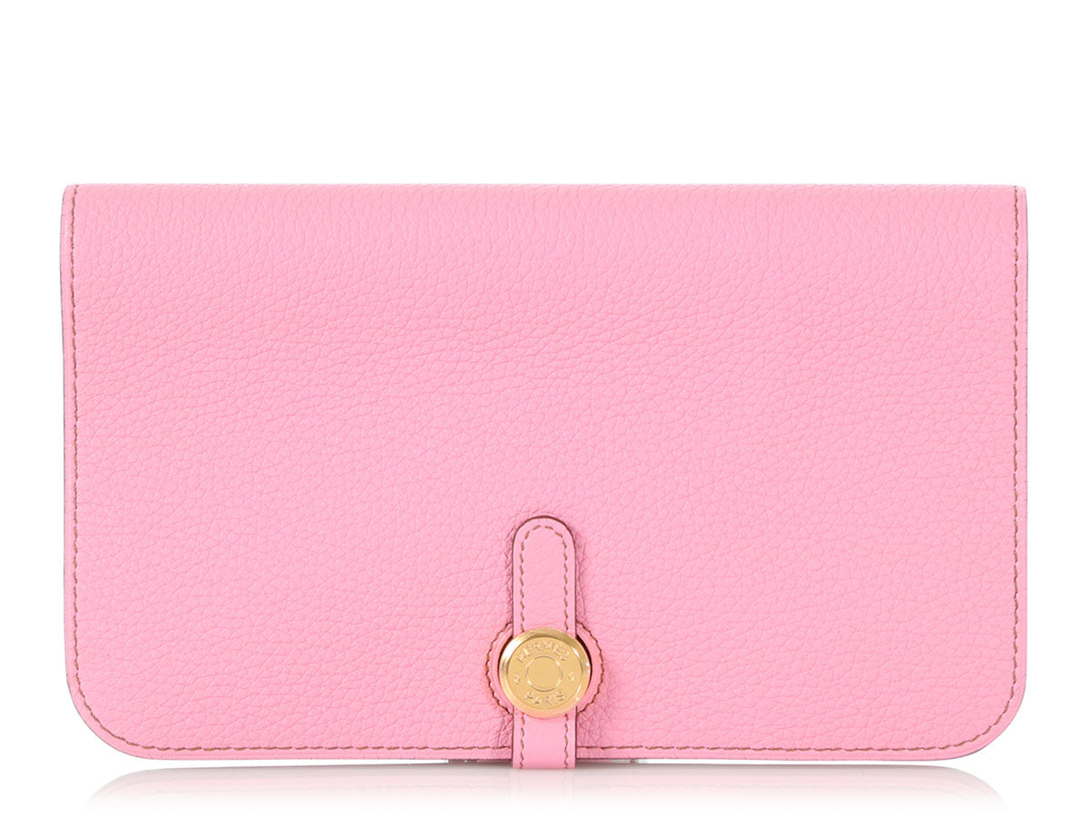 Hermès Large 5P Pink Togo Dogon Duo Wallet