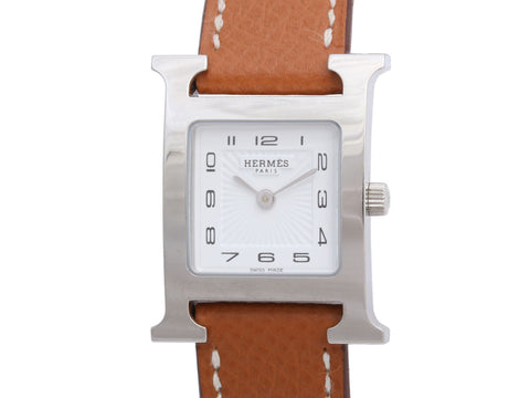 Hermès Ladies Stainless Steel H Hour Watch 17mm