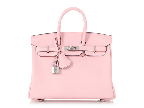 Hermès Rose Sakura Swift Birkin 25