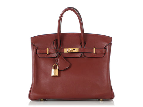 Hermès Rouge H Swift Birkin 25