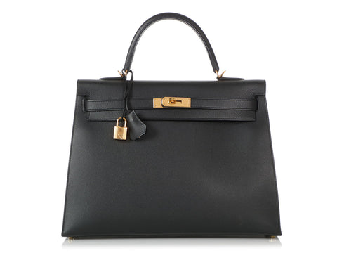 Hermès Black Epsom Kelly 35