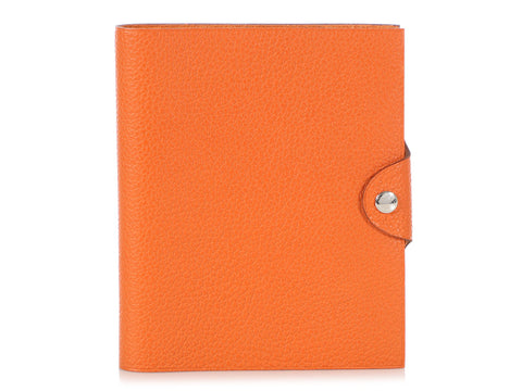 Hermès Small Orange Togo Ulysse Notebook Cover