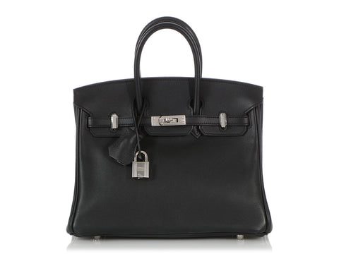 Hermès Black Swift Birkin 25