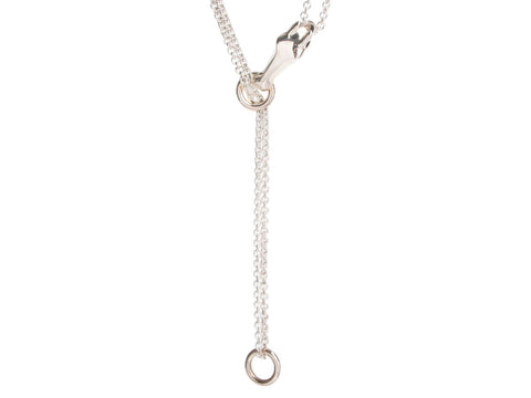 Hermès Large Sterling Silver Long Au Galop Pendant Necklace