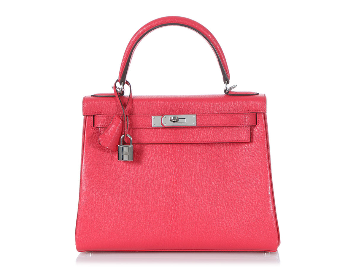 Hermès Special Order Bougainvillea Chèvre and Rouge Casaque Kelly 28