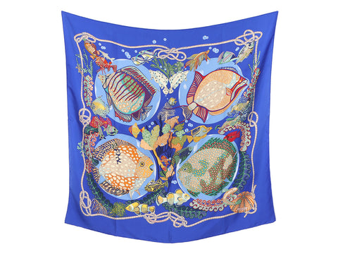 Hermès Grand Fonds Silk Scarf 90cm