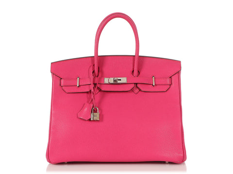Hermès Rose Shocking Chèvre Birkin 35