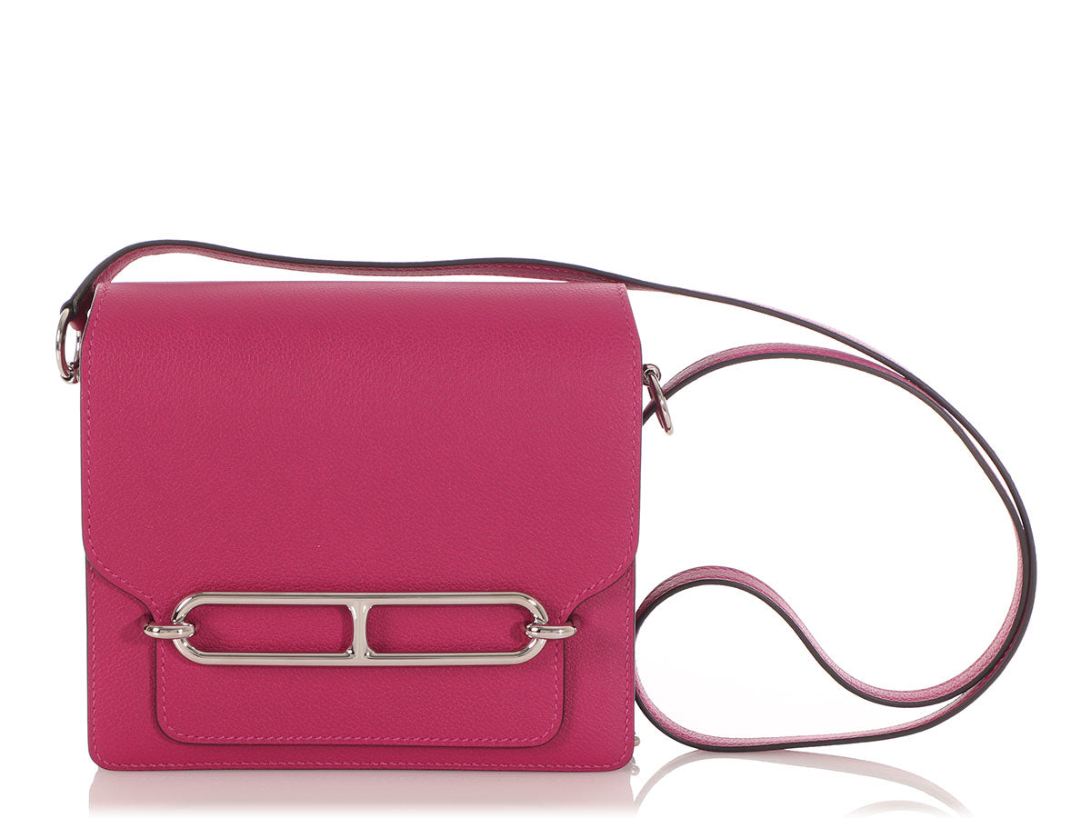 Hermès Mini Rose Pourpre Evercolor Roulis 18