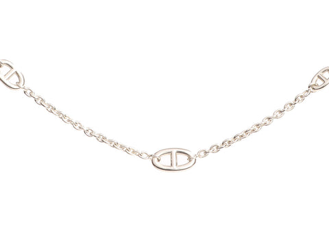 Hermès Long Sterling Silver Farandole Necklace 120