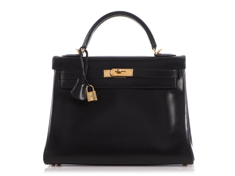 Hermès Black Box Calfskin Kelly 32