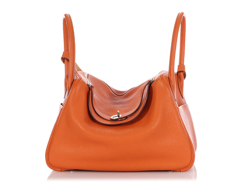 Hermès Orange and Mustard Clémence Eclat Lindy 34
