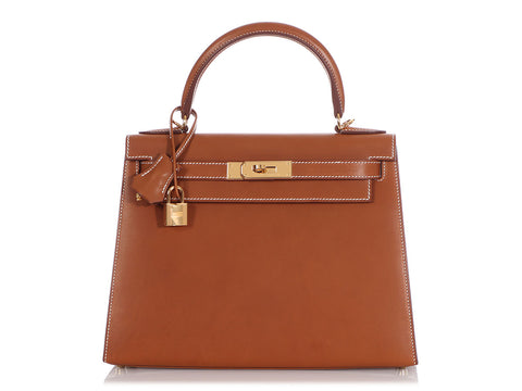 Hermès Natural Barenia Kelly 28