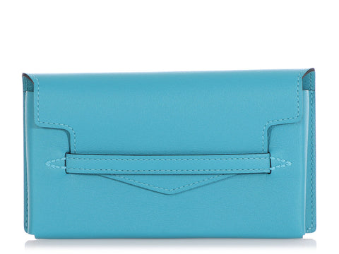 Hermès Turquoise Swift Smart Pouch