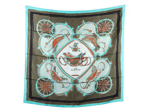 Hermès New Springs Silk Scarf 90cm