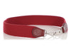 Hermès Rouge Webbing and Box Calfskin Bag Strap