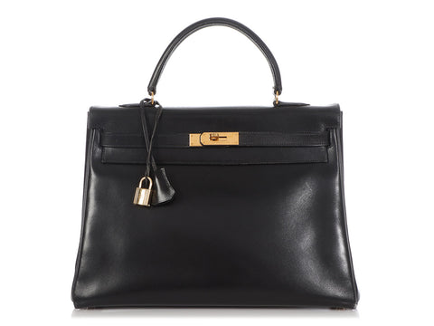 Hermès Black Box Calfskin Kelly 35