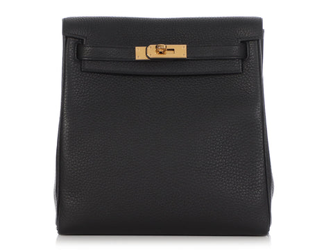 Hermès Black Clémence Kelly Ado Backpack 22