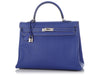 Hermès Electric Blue Epsom and Blue Thalassa Verso Kelly 35