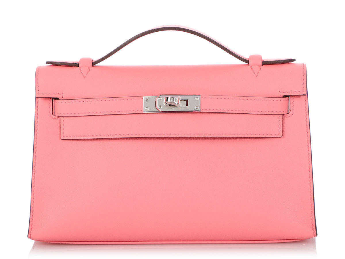 Hermès Rose d'Eté Swift Kelly Pochette