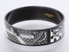 Hermès Wide Black PVD A Pois Enamel Bangle 65