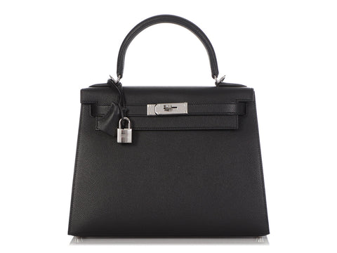 Hermès Black Epsom Kelly 28