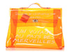Hermès Orange Vinyl Souvenir de l'Exposition Kelly Bag
