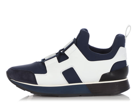 Hermès Marine, Blanc, and Noir Player Sneakers