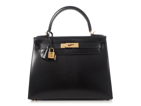 Hermès Black Box Calfskin Kelly 28